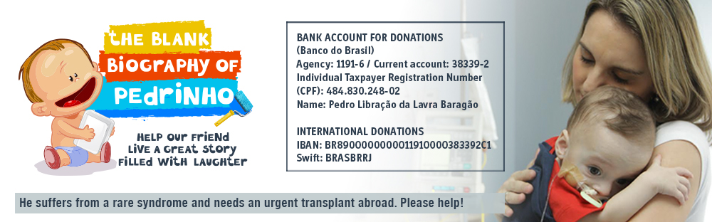 He suffers from a rare syndrome and need to make an urgent transplant outside Brazil. Help!